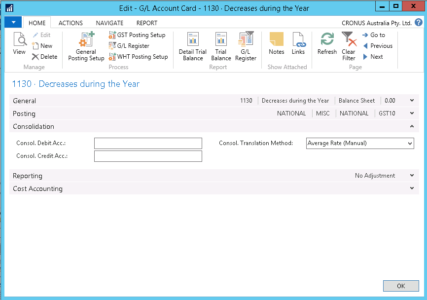 How to run consolidation in NAV2016 im1