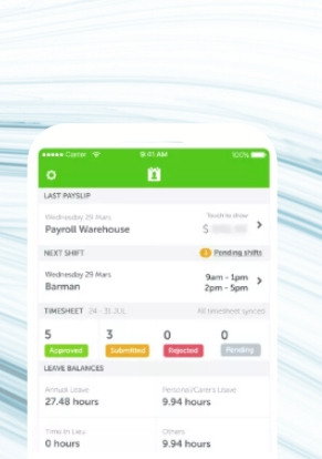 The Workzone app give employees access to Payroll Easy from anywhere